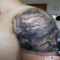 霸气手臂斗战胜佛纹身图片欣赏