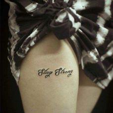 简单字母纹身图片个性图案