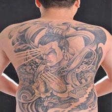 杨戬二郎神满背纹身图案大全