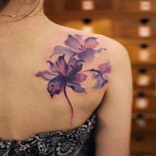 花肩纹身图案精选素材