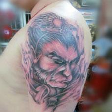 斗战胜佛花臂个性纹身图片欣赏