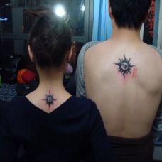 情侣图腾背部纹身图案大全