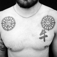 个性黑白图腾纹身时尚魅力