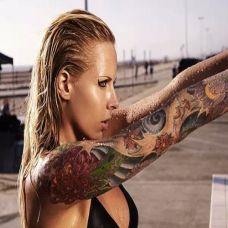 欧美性感美女霸气纹身图片大全