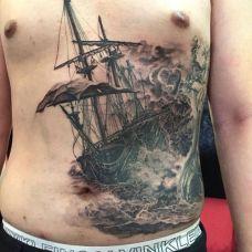 腰部精美艺术纹身高清大图
