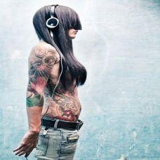 性感欧美纹身美女个性图片大全