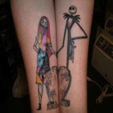 情侣个性时尚可爱纹身图片