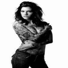性感欧美女郎霸气个性纹身图案大全