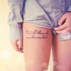 纹身图案性感潮流女生大腿纹身