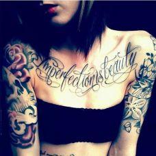 女性胸部性感纹身图片唯美