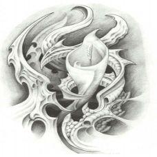 d手腕霸气纹身艺术手稿图片