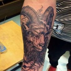 外国霸气鬼羊纹身图案大全