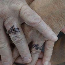 情侣手指图案纹身爱的誓言