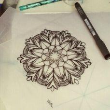 图腾纹身素材手稿唯美线条