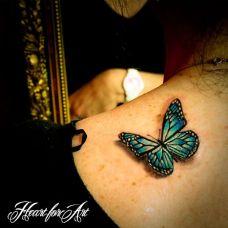 时尚优雅D蝴蝶纹身图案