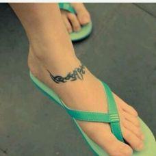 脚踝纹身个性图腾简易图案