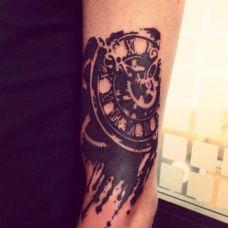 生命的时钟D视觉纹身图案