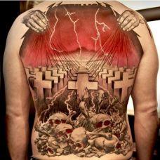 D图腾时尚满背纹身图案大全
