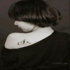 女式肩部小清新纹身图案大全