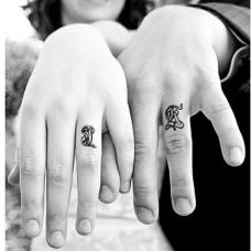 情侣纹身手腕大图案挚爱一生