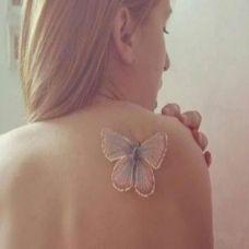 纹身图案d蝴蝶唯美刺青