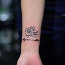 手臂小纹身图片个性图案