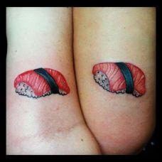 时尚个性情侣大腿部纹身图案