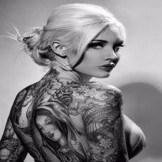 性感女郎纹身图片诱惑刺青写真