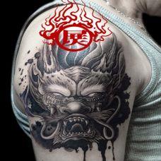 男人手臂纹身图案霸气刺青