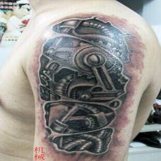 超酷的机械花臂纹身图案大全