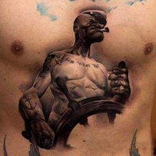 男士胸前纹身大图彰显时尚魅力