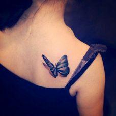 可爱蝴蝶纹身图案 无法抗拒的美