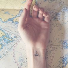 小清新纹身图案图片手腕图腾刺青