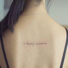 女生后背英文纹身图案大全
