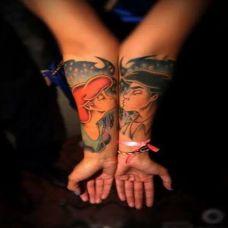 情侣手腕纹身图片见证爱的奇迹