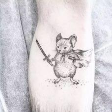 欧美手臂纹身图案小清新动物