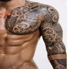 潮流男生半甲纹身图案大全