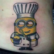 精灵古怪小黄人纹身图案