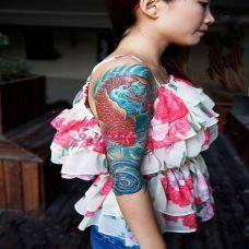时尚性感女郎纹身图片