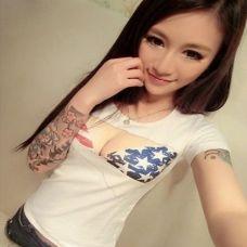 女生花臂纹身图案大全