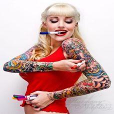 个性欧美纹身女图案