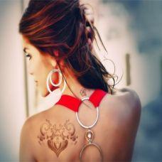 好看的女生背部纹身图案大全
