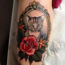 猫咪图案个性纹身素材