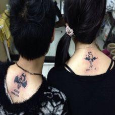 情侣背部纹身图案大全