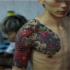 人物半甲纹身图片大全