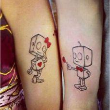 个性时尚情侣纹身图案