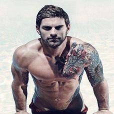 欧美男生纹身图片男人的魅力