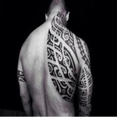 好看的黑白图腾纹身图案