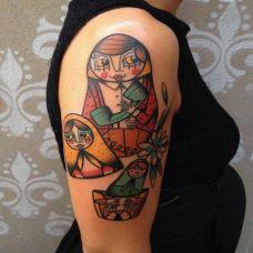 创意彩色手臂纹身图案大全