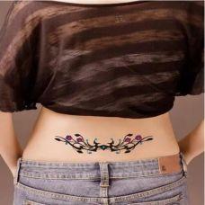 腰间蔓藤纹身经典图案